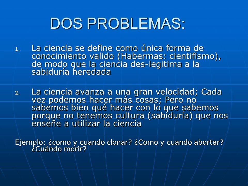DOS PROBLEMAS: