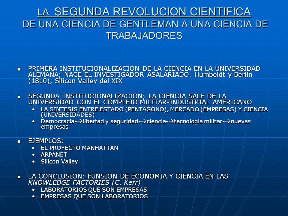 LA SEGUNDA REVOLUCION CIENTIFICA DE UNA CIENCIA DE GENTLEMAN A UNA CIENCIA DE TRABAJADORES