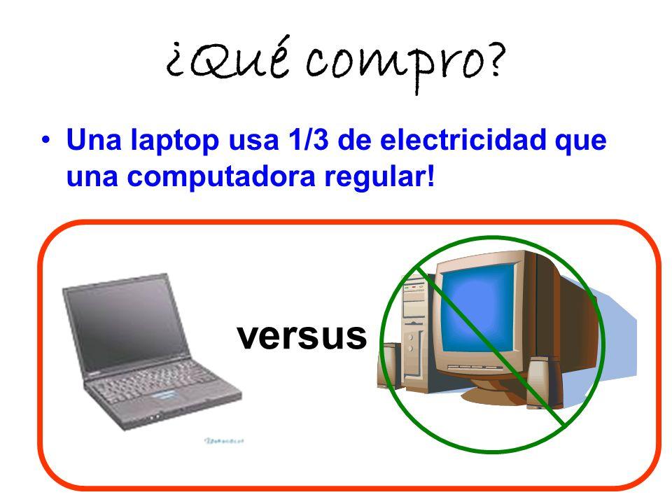 ¿Qué compro Una laptop usa 1/3 de electricidad que una computadora regular! versus