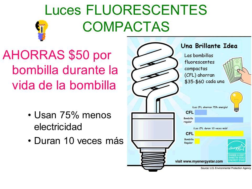 Luces FLUORESCENTES COMPACTAS