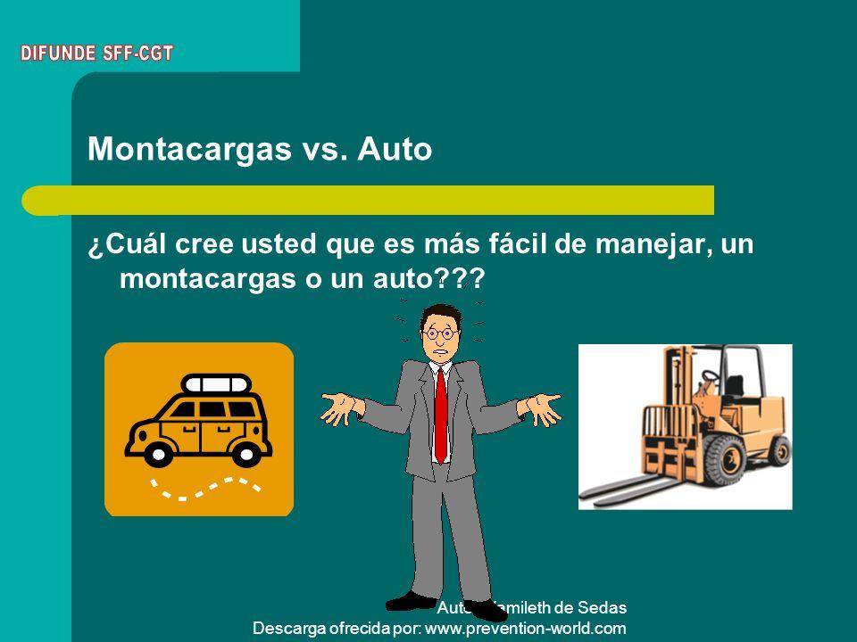 DIFUNDE SFF-CGT Montacargas vs. Auto. ¿Cuál cree usted que es más fácil de manejar, un montacargas o un auto