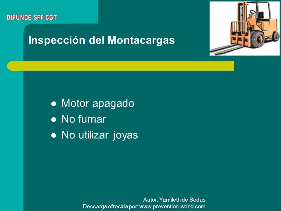 Inspección del Montacargas