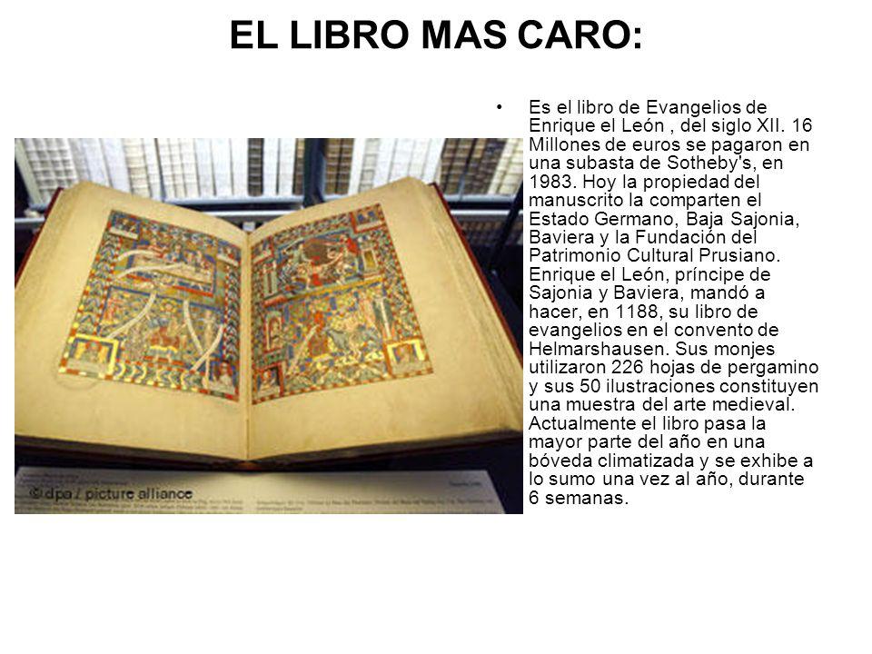 EL LIBRO MAS CARO: