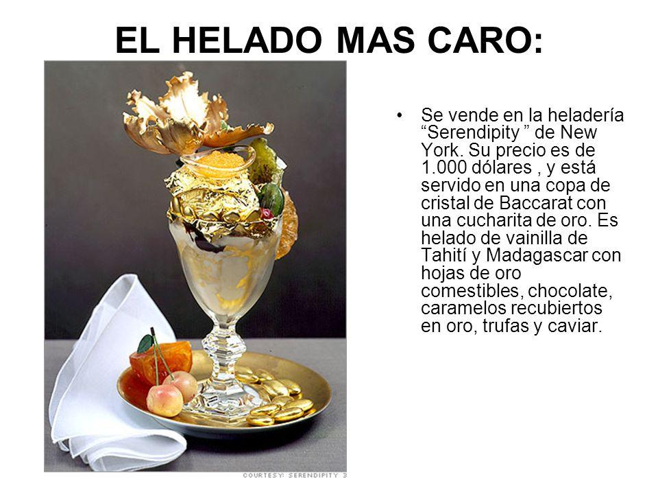 EL HELADO MAS CARO:
