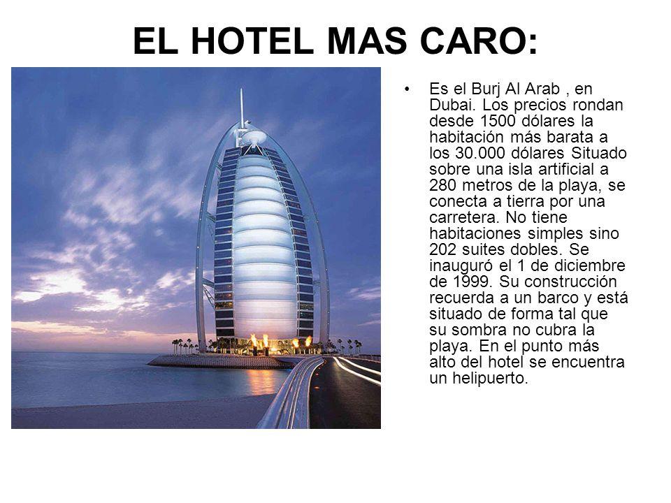 EL HOTEL MAS CARO: