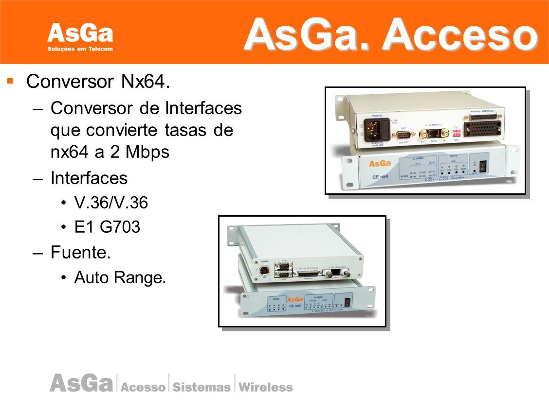 AsGa. Acceso Conversor Nx64.
