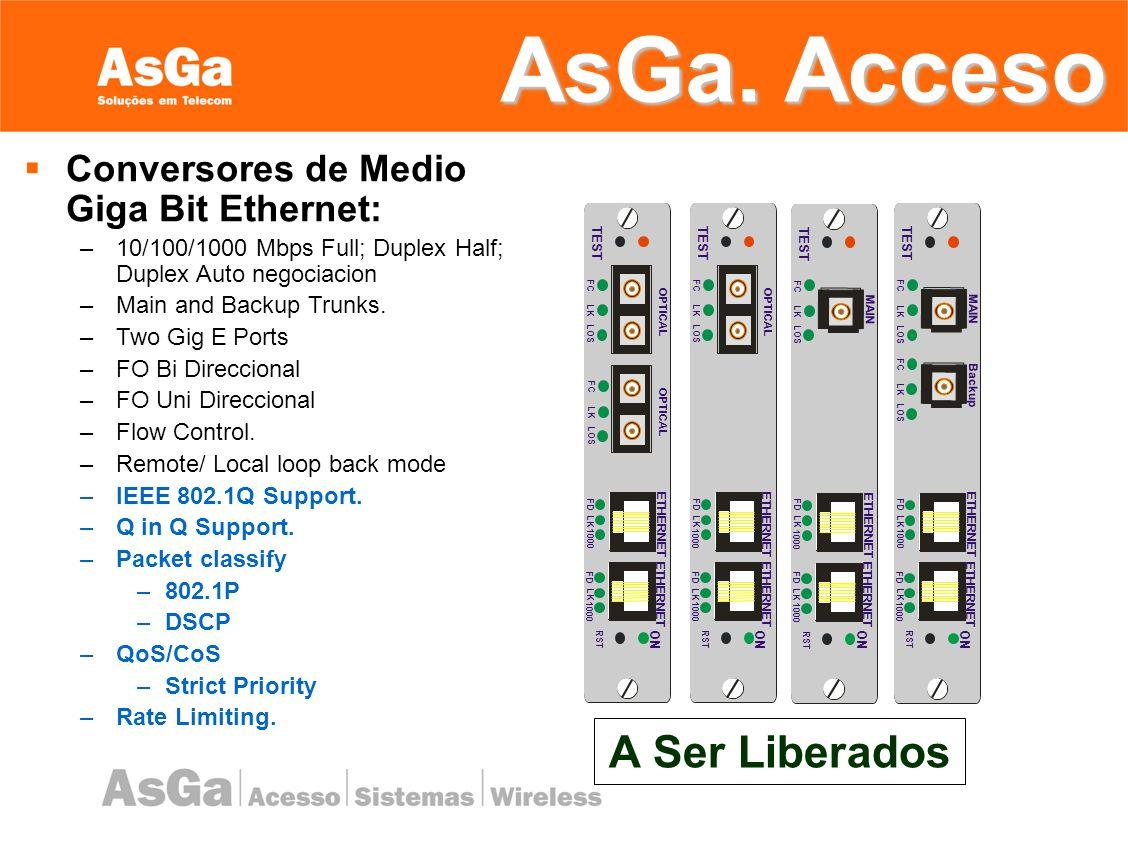 AsGa. Acceso A Ser Liberados Conversores de Medio Giga Bit Ethernet:
