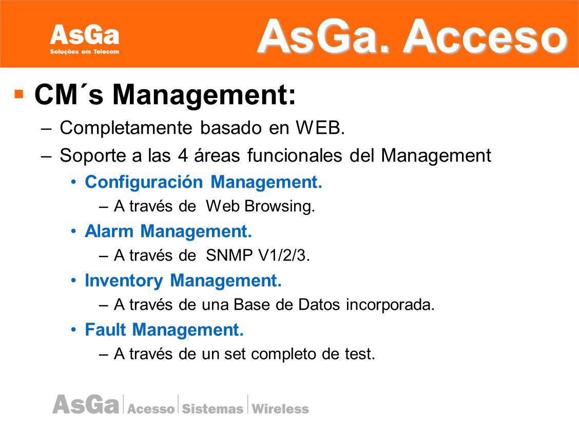 AsGa. Acceso CM´s Management: Completamente basado en WEB.