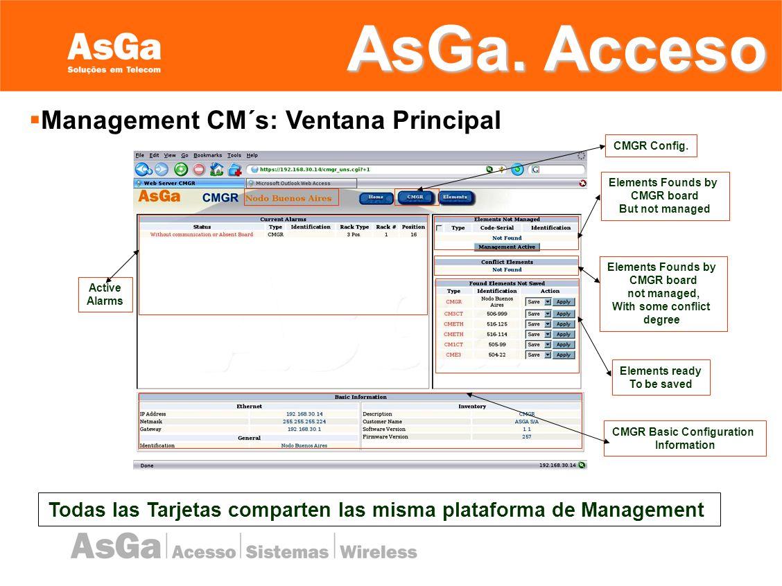 Management CM´s: Ventana Principal