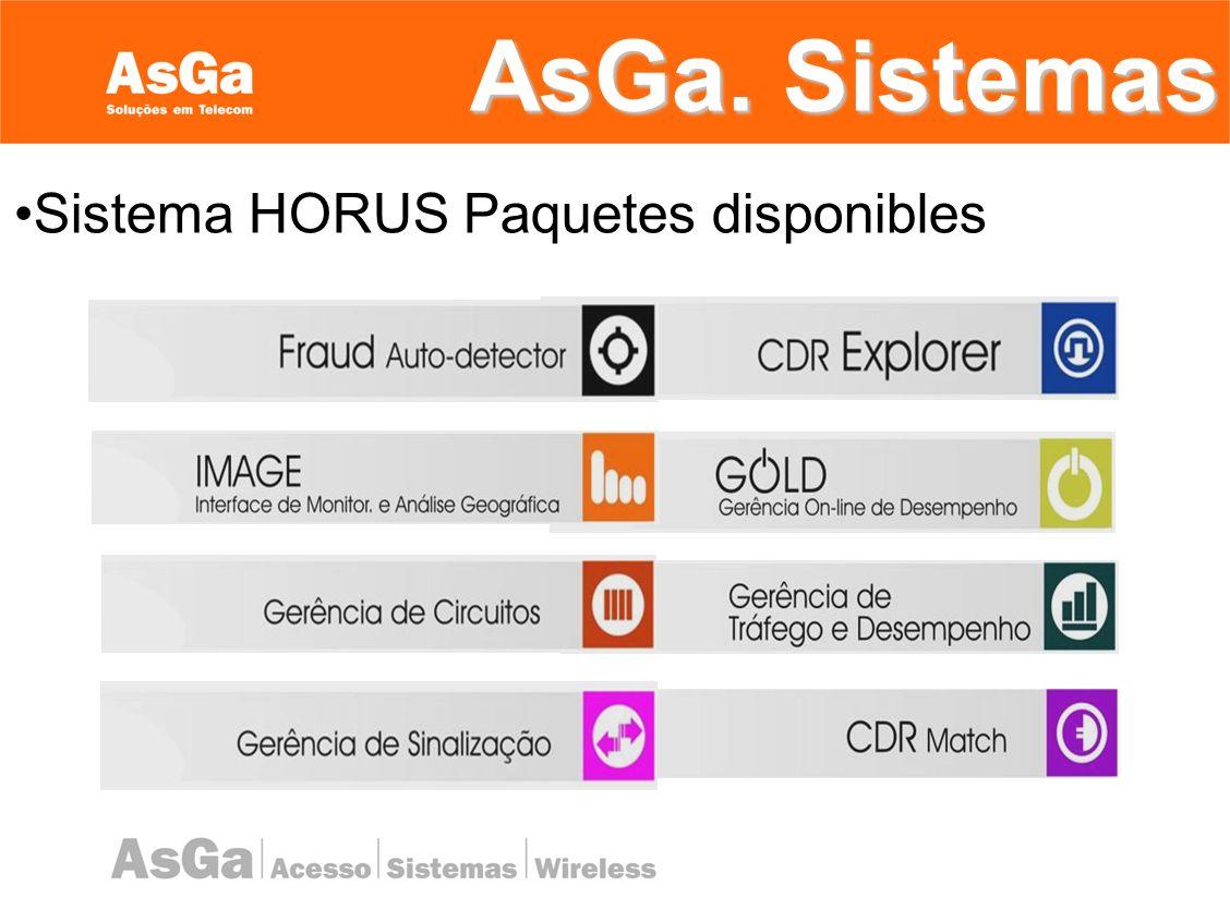 Sistema HORUS Paquetes disponibles
