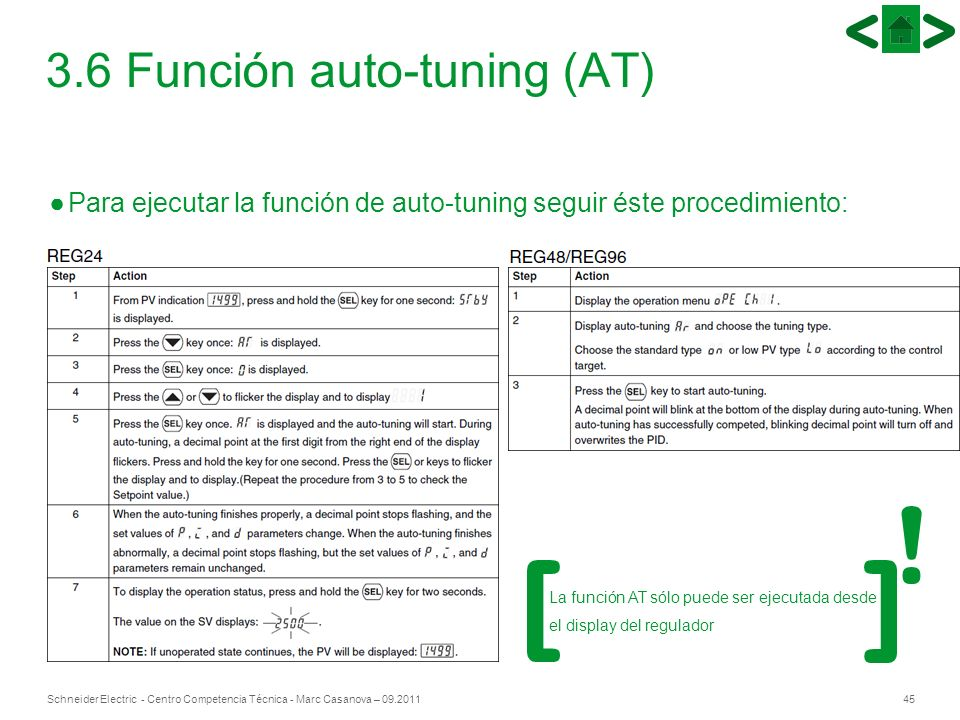 3.6 Función auto-tuning (AT)