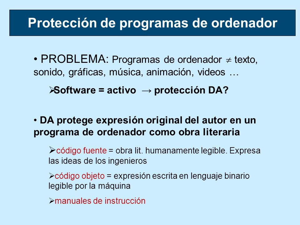 Protección de programas de ordenador