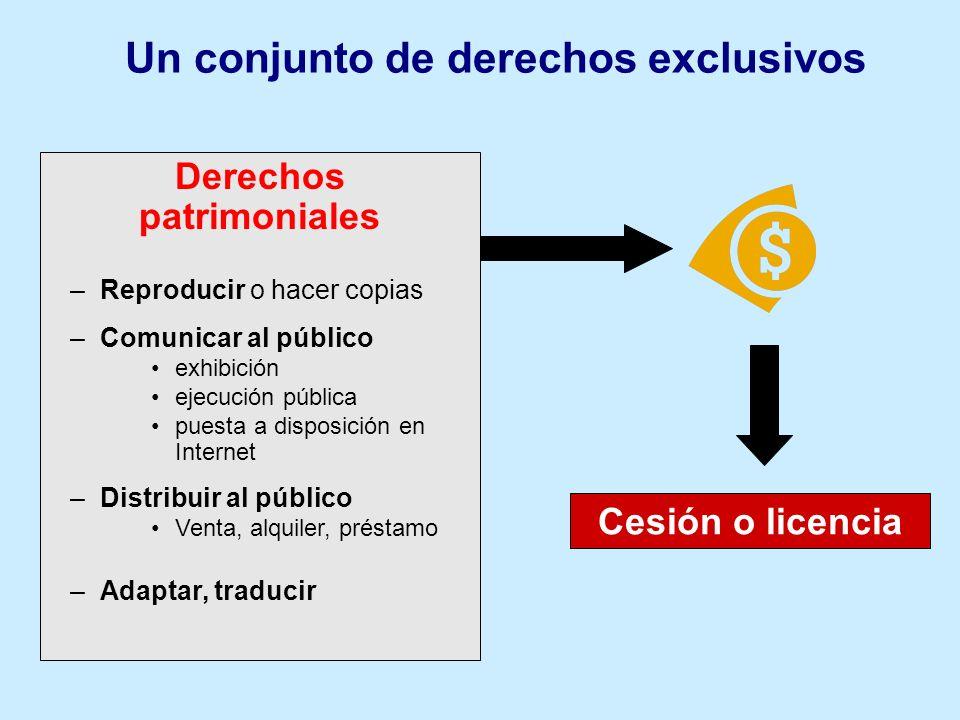 Un conjunto de derechos exclusivos Derechos patrimoniales
