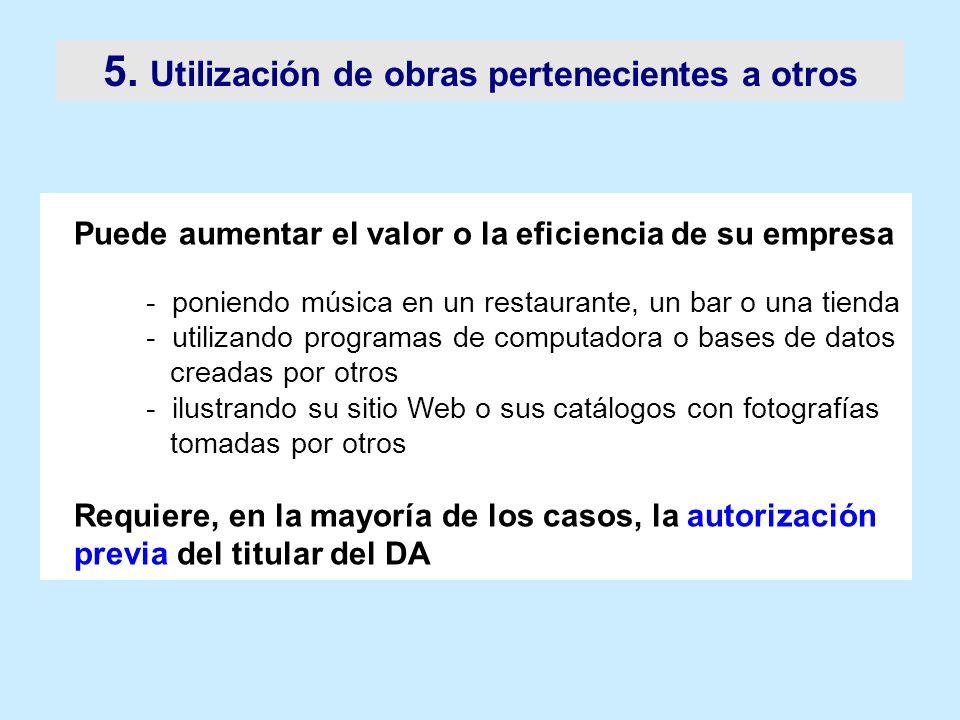 5. Utilización de obras pertenecientes a otros