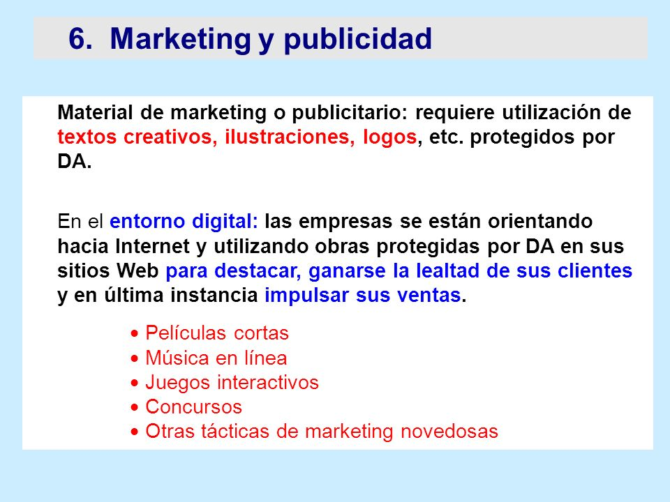 6. Marketing y publicidad