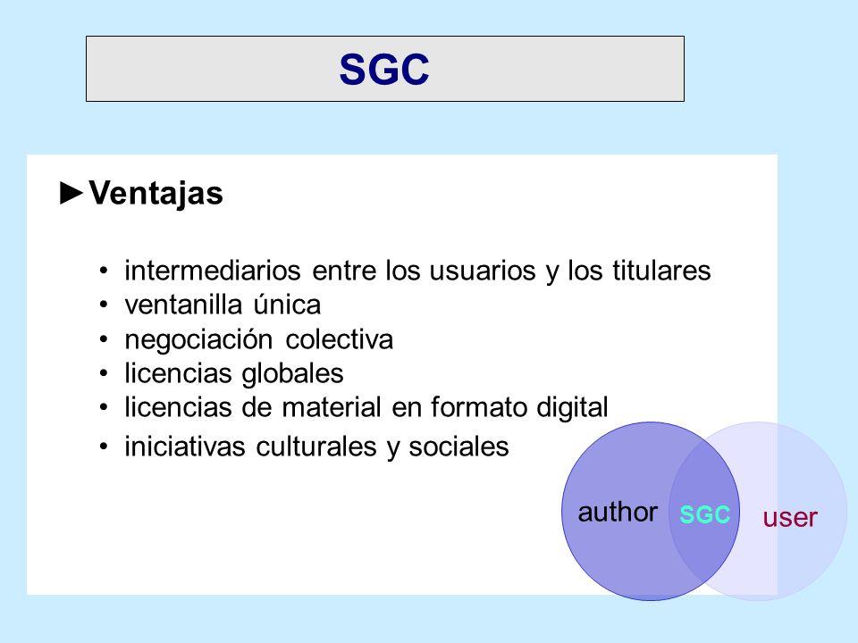 SGC Ventajas intermediarios entre los usuarios y los titulares