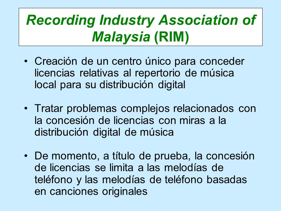 Recording Industry Association of Malaysia (RIM)