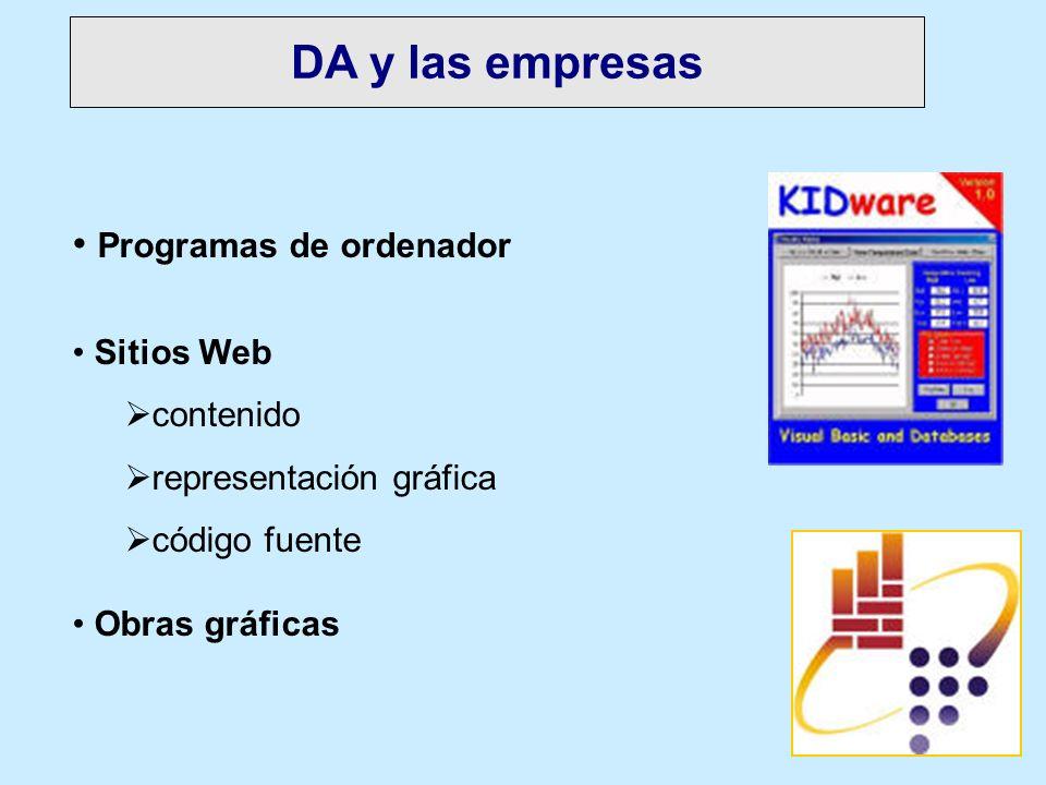 DA y las empresas Programas de ordenador Sitios Web contenido