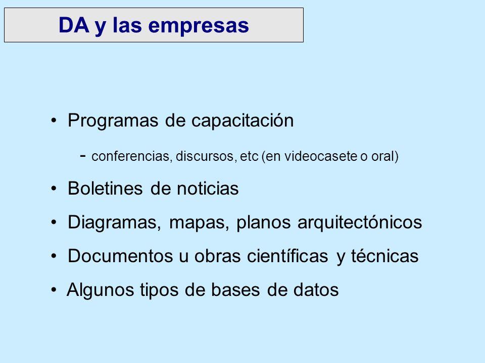DA y las empresas Programas de capacitación
