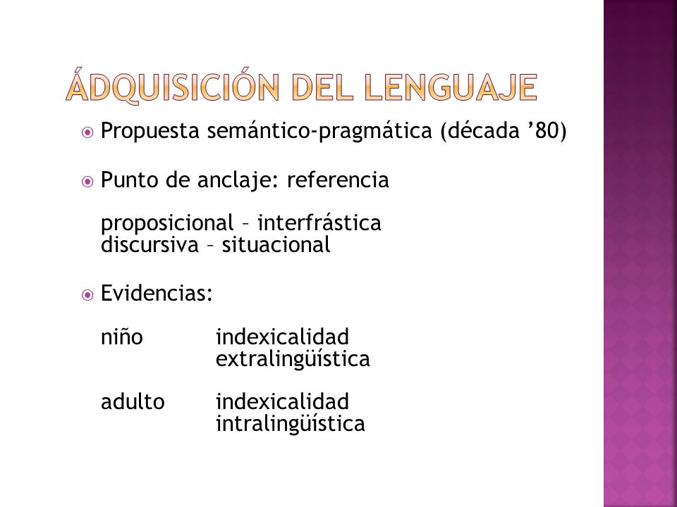 Ádquisición del lenguaje