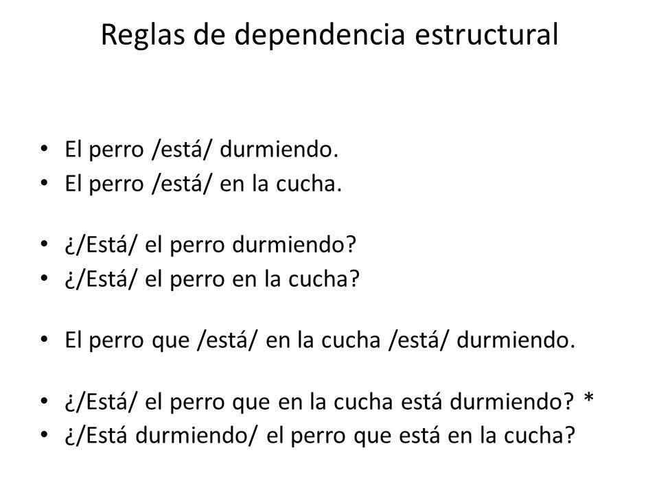 Reglas de dependencia estructural