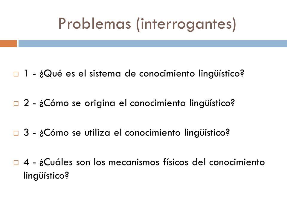 Problemas (interrogantes)