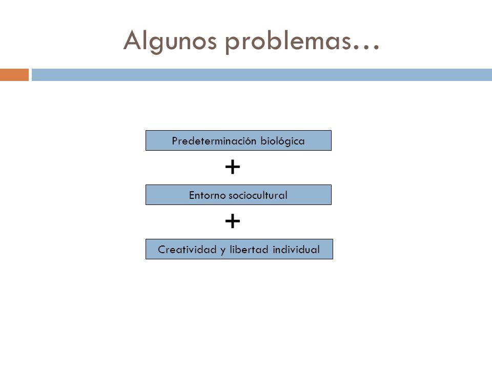 Algunos problemas… + + Predeterminación biológica