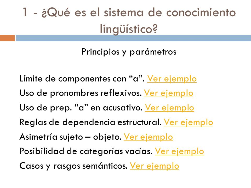 1 - ¿Qué es el sistema de conocimiento lingüístico