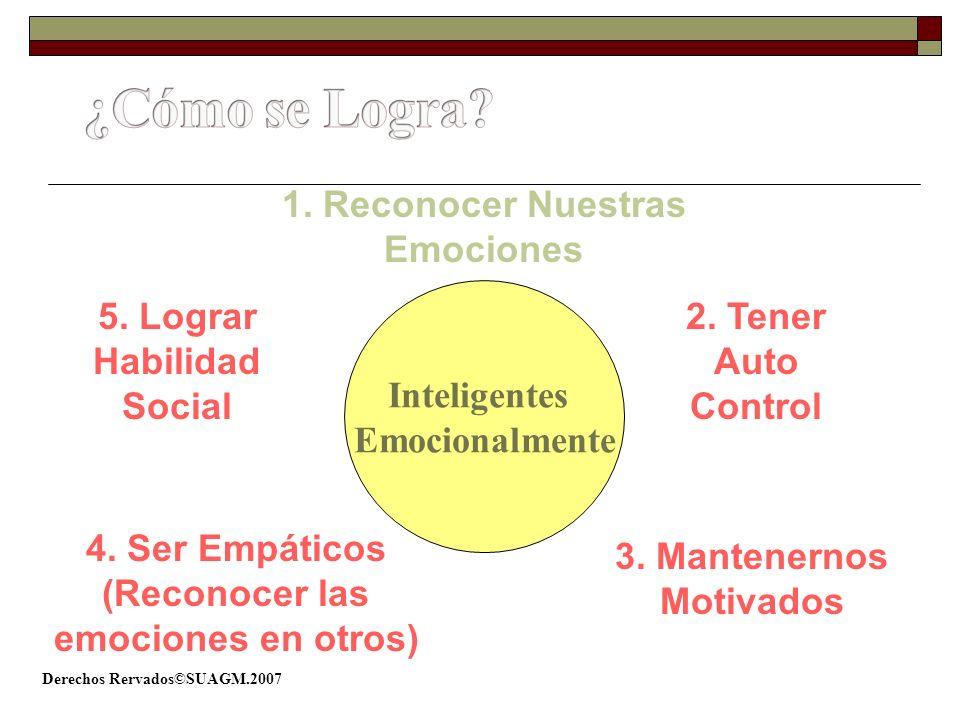 ¿Cómo se Logra 1. Reconocer Nuestras Emociones Inteligentes