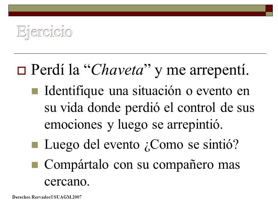 Ejercicio Perdí la Chaveta y me arrepentí.