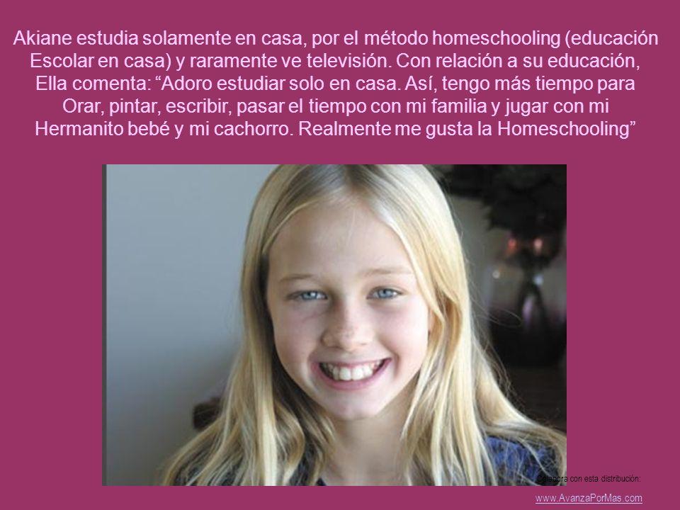 Ella comenta: Adoro estudiar solo en casa. Así, tengo más tiempo para