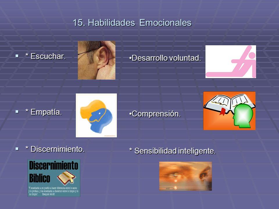 15. Habilidades Emocionales