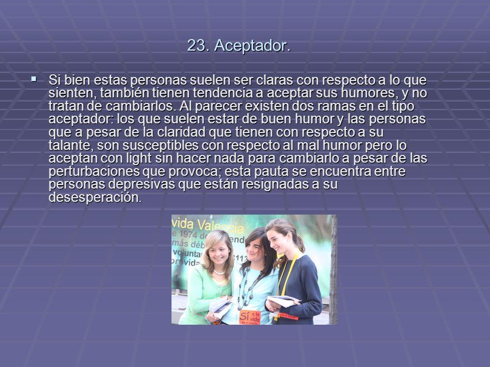 23. Aceptador.
