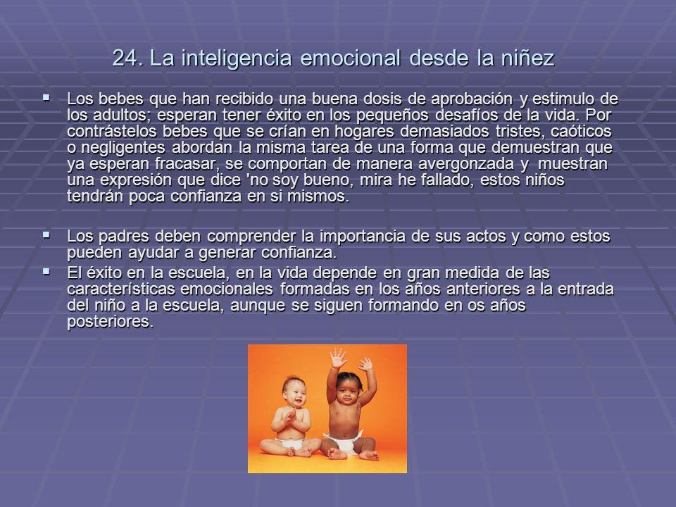 24. La inteligencia emocional desde la niñez