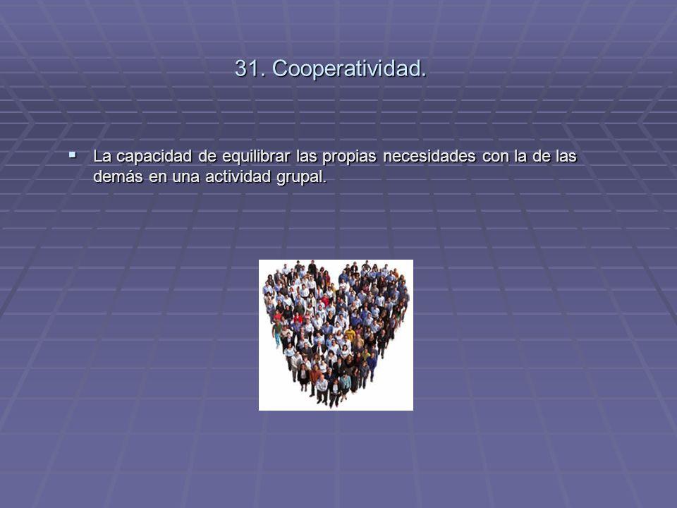 31. Cooperatividad.