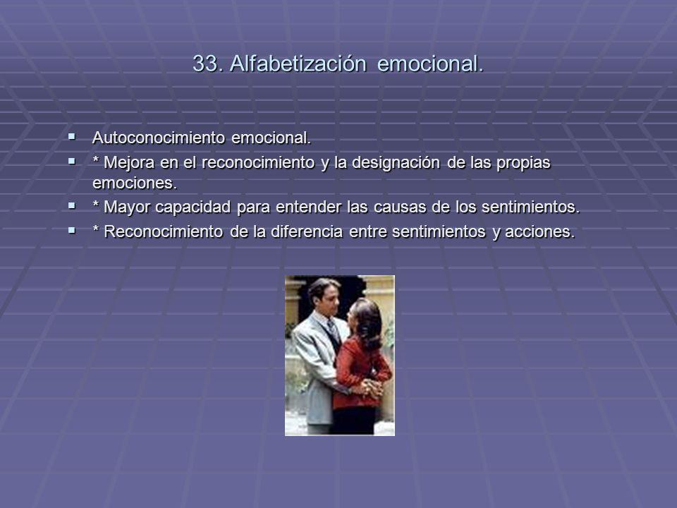 33. Alfabetización emocional.