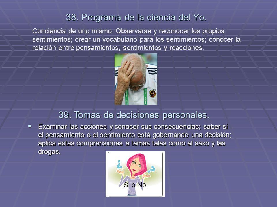 38. Programa de la ciencia del Yo.