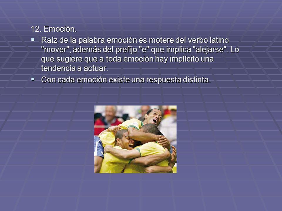 12. Emoción.