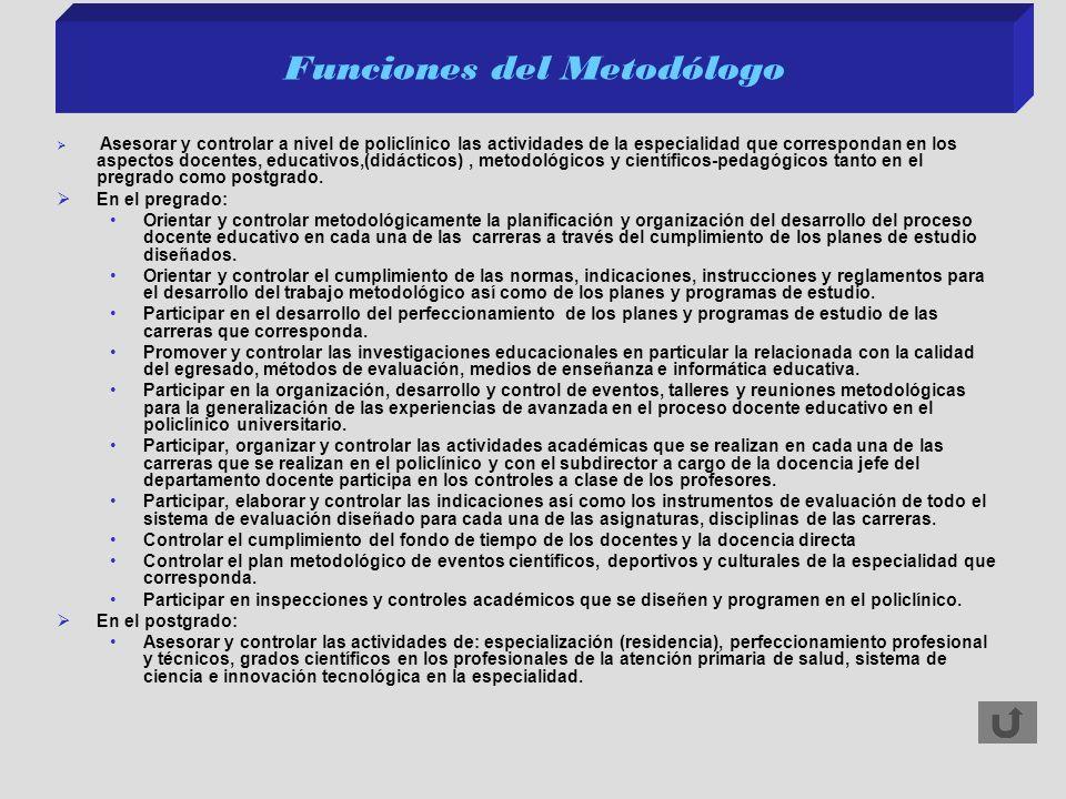 Funciones del Metodólogo