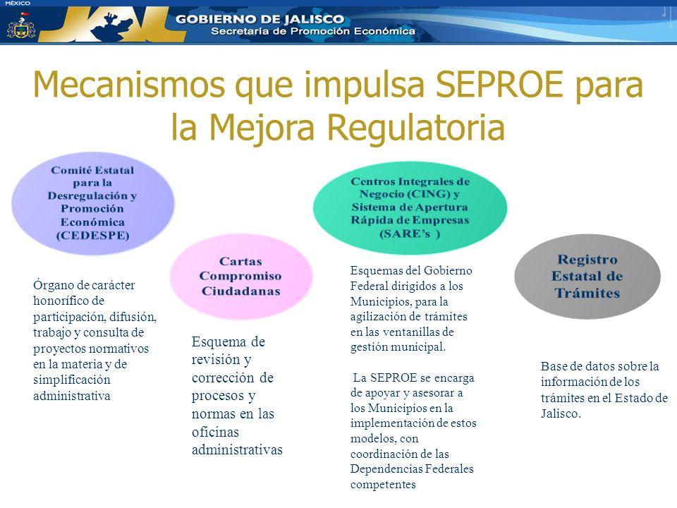 Mecanismos que impulsa SEPROE para la Mejora Regulatoria
