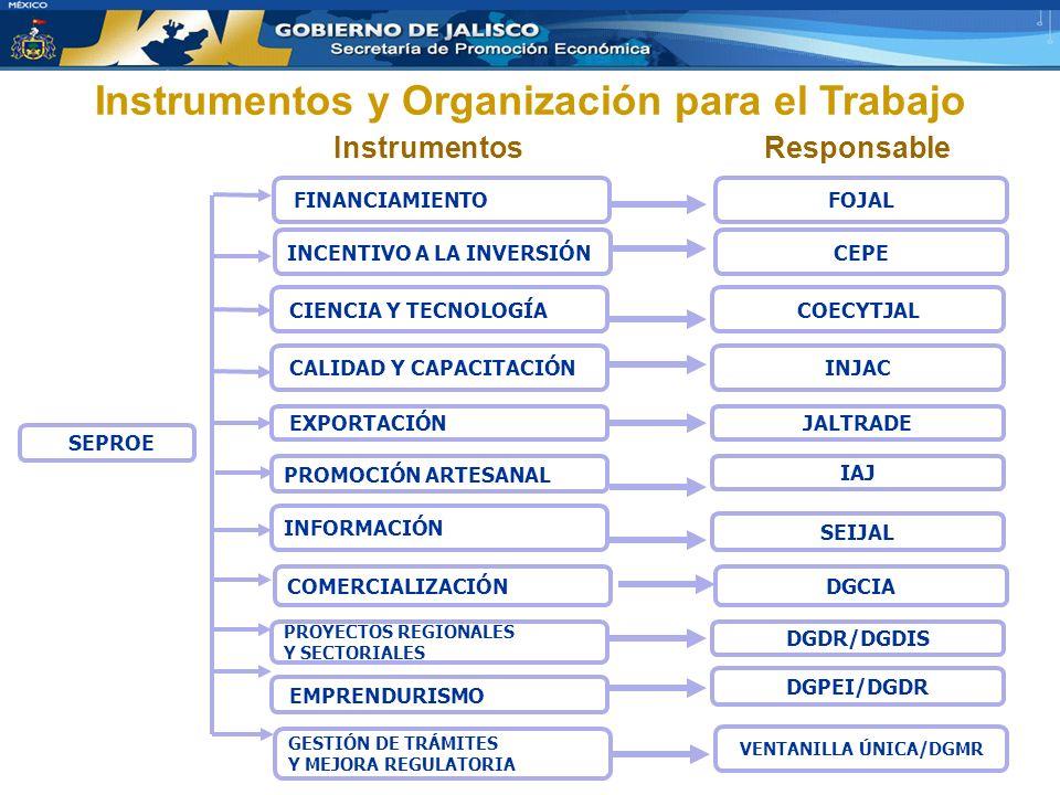 Instrumentos y Organización para el Trabajo VENTANILLA ÚNICA/DGMR