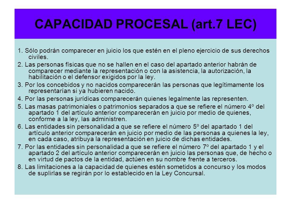 CAPACIDAD PROCESAL (art.7 LEC)