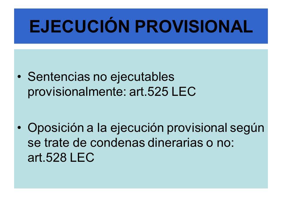 EJECUCIÓN PROVISIONAL