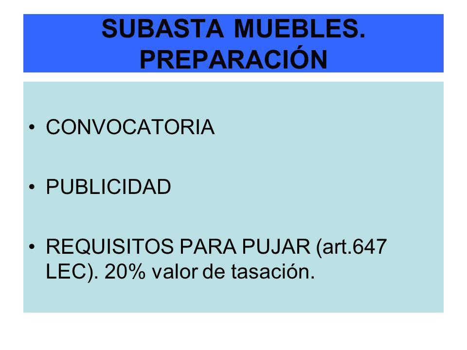 SUBASTA MUEBLES. PREPARACIÓN