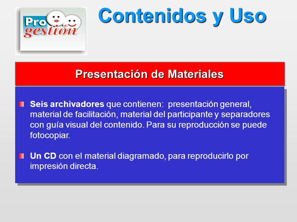 Presentación de Materiales