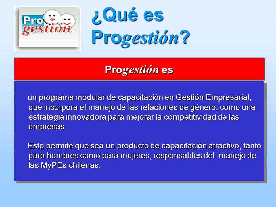 ¿Qué es Progestión Progestión es