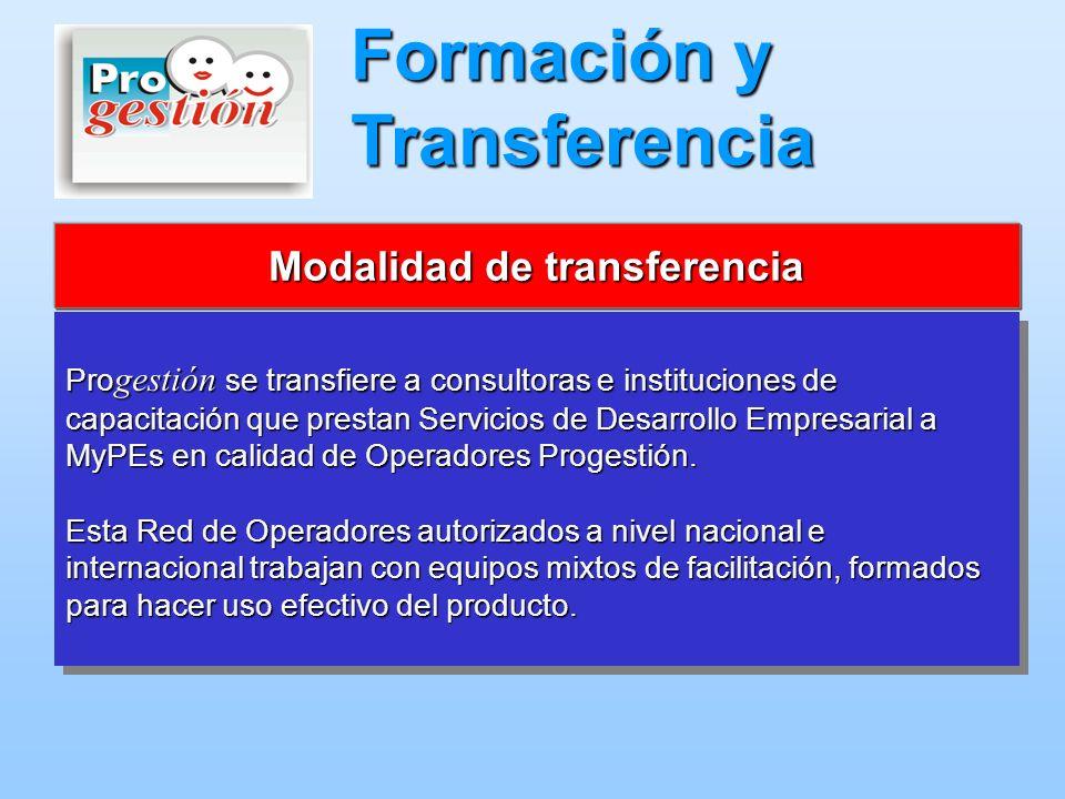Modalidad de transferencia