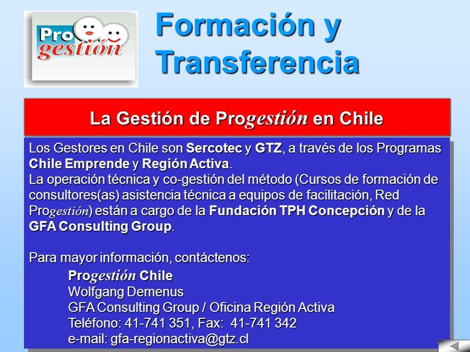 La Gestión de Progestión en Chile