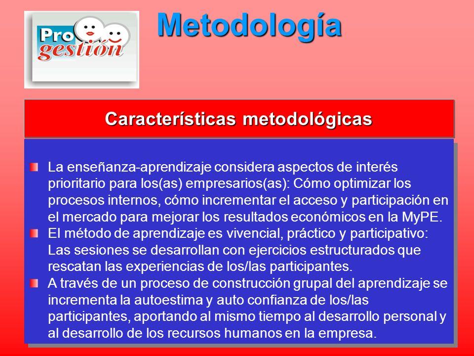 Características metodológicas