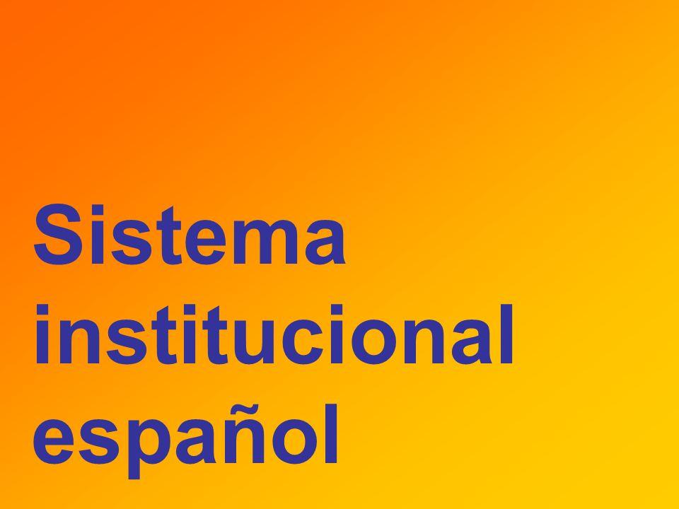 Sistema institucional español
